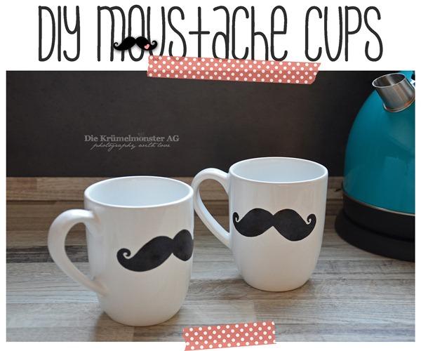 DIY Moustache Cups