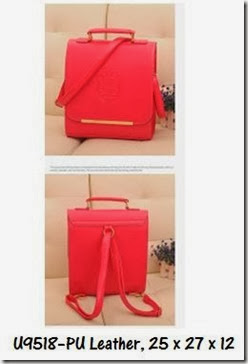 U9518 (185.000) - PU Leather, 25 x 27 x 12, Red