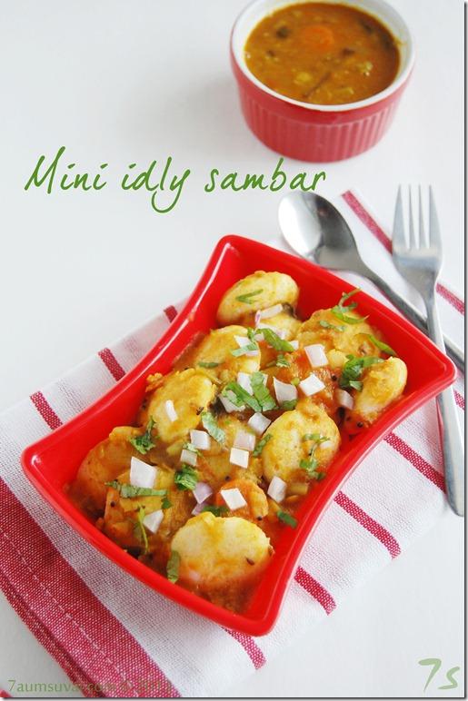Mini idly sambar