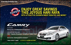 Toyota Camry Hari Raya Promotion 2013 All Discounts Offer Shopping Save Money EverydayOnSales