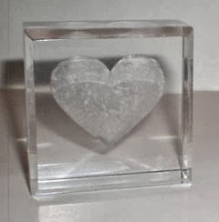 Acrylic heart sculpture