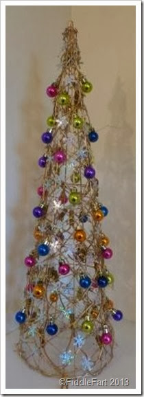 Bejewelled Dunelm Christmas Tree Cone