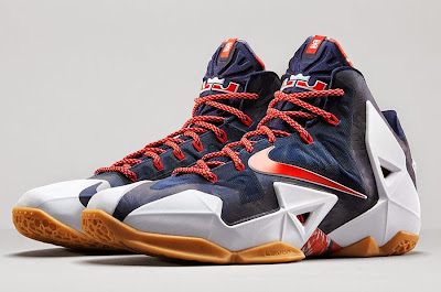 nike lebron 11 gr black white red mango 3 02 independence day Release Reminder: Nike LeBron XI to Rock on July 4th