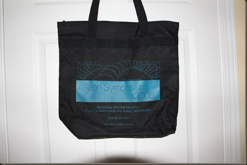 upcycle conference bag tote