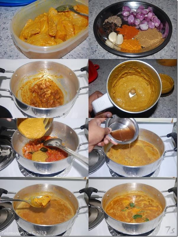 Meen kuzhambu process