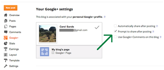 Condivisione dei post su Google _1
