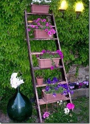 flores na escada 1