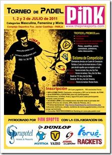 Torneo de Pádel PINK SPORTS los próximo 1, 2 y 3 de julio de 2011 en Parla. Organiza PTP