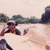 1980年代末のJelalong川下流_後方にエクスプレス・ボートが見える / Lower part of Jelalong River in the late 1980s - An express boat can be seen in the background