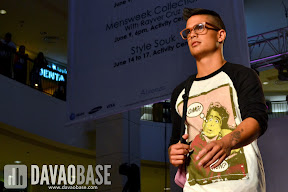 Artwork shirt on a male model during the Style Origin Fashion Show at Abreeza