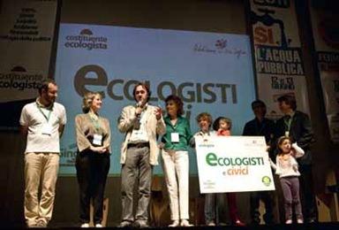 Ecologisti e civici, presentazione logo (Ansa,23 mag 2011)