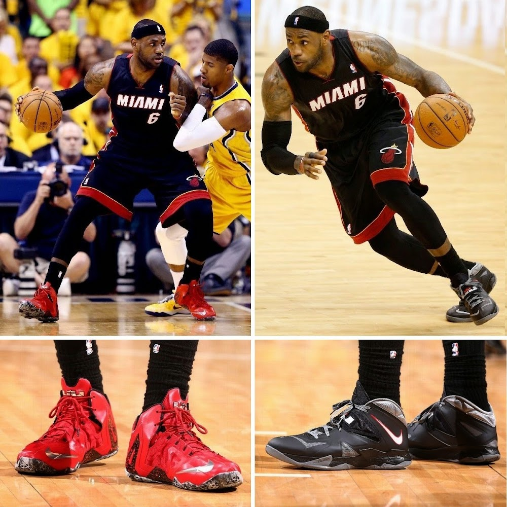6ce8ff93010 Game 7  LeBron James Wearing the  Zoom Soldier 7
