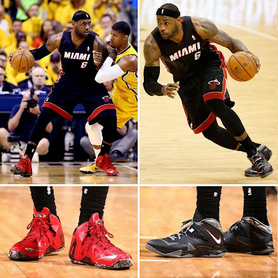 lebron james nba 140520 mia at ind 41 game 2 King James Wears New LeBron 11 Elite PE For a Little Bit