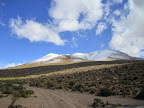 Actually these next couple of photos are to show off the rare, freak snowfall they had up on the altiplano.