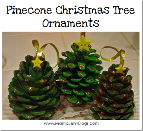 Pinecone christmas tree ornaments for Pine cone christmas tree craft