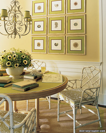 Richly colored two-tone framing mats bring vibrancy without the need to repaint an entire wall.