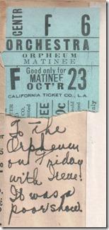 Orpheum Ticket