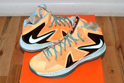 nike lebron 10 ps elite shooting starts pe 5 04 LEBRON X PS Elite Peach Jam AAU EYBL Shooting Stars PE