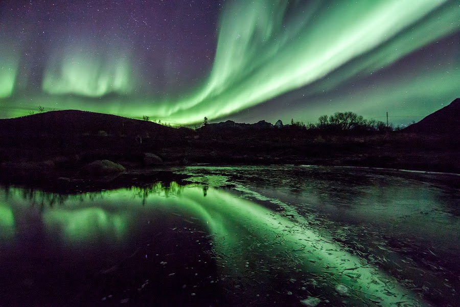 twin aurora by Benny Høynes - Landscapes Waterscapes (  )