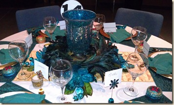 Turquoise tablescape 12.15.11
