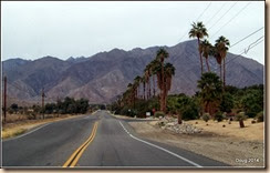 Road going west into Borrego Springs