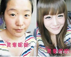 chinese girls makeup before and after  (12)