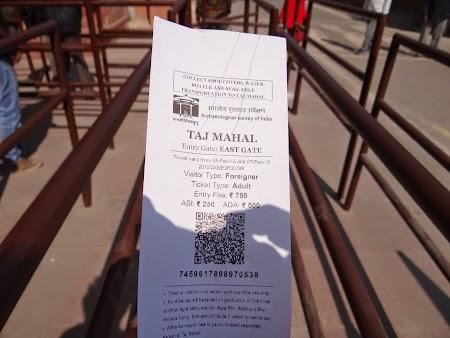 09. Bilet intrare Taj Mahal.JPG