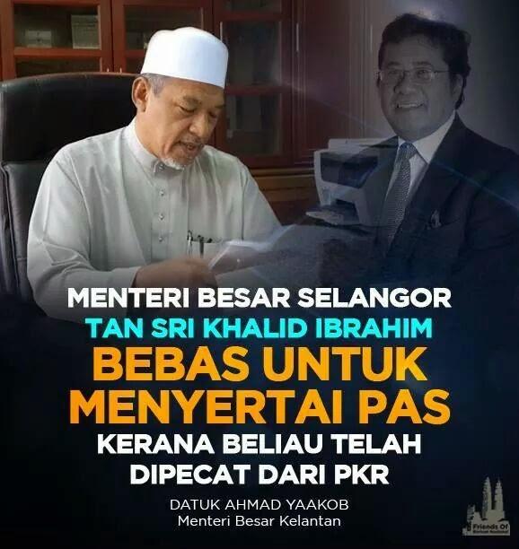 Menteri Besar Kelantan Ajak Khalid Ibrahim Masuk PAS
