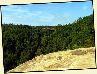 17d - Laurel Ridge Trail - View of Natural Bridge from Lookout Point