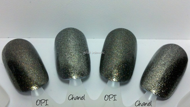 Chanel Graphite vs OPI Number One Nemesis 3 coats