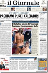prima pagina Il Giornale 7 luglio 2011