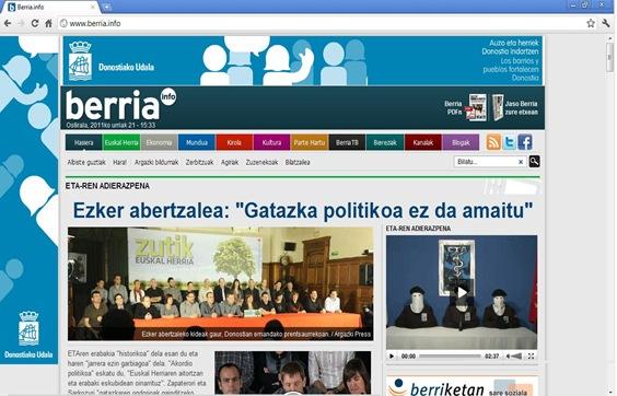 Portada Berria ETA PATZ