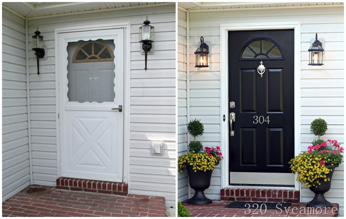 front door before after