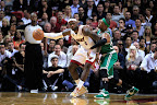 lebron james nba 121030 mia at bos 14 LeBron Sports Championship Gold LBJ X in Miami Heat Opener