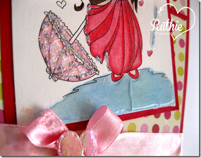 Lucy Sunshine Stamps - Emily Showers Of Love - Latinas Arts and Crafts - Ruthie Lopez DT - Valentine´s Day Card - 4