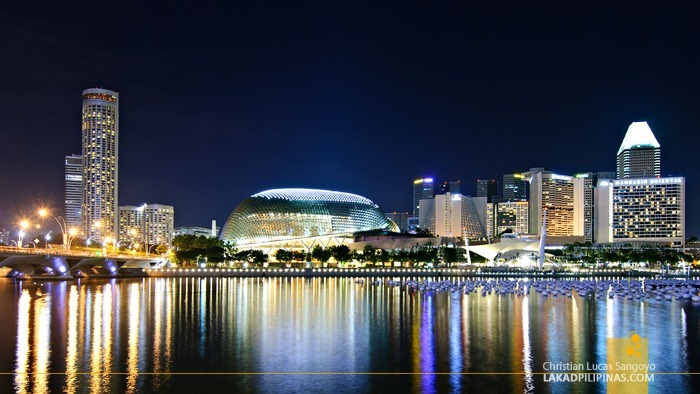 Evening at Singapore's Marina Bay