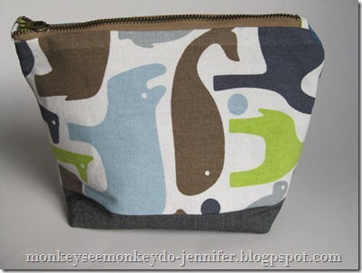 zippered pouch #sewing #zipperedpouch