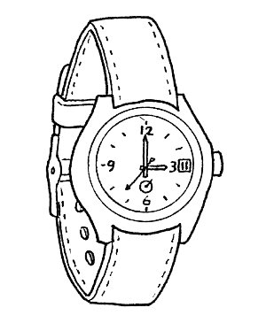 Watch coloring for Watch coloring page