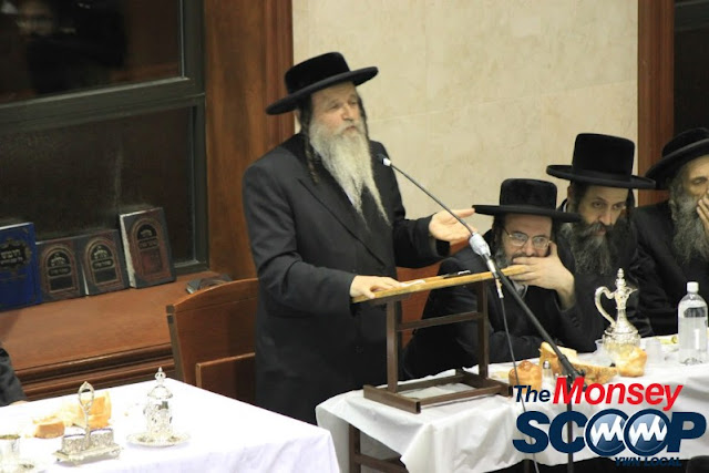 Yartzheit Tish For Stamar Rebbe Held In Satmar Beis Medrash Of Monsey (Photos by Moshe Lichtenstein) - IMG_5487.JPG