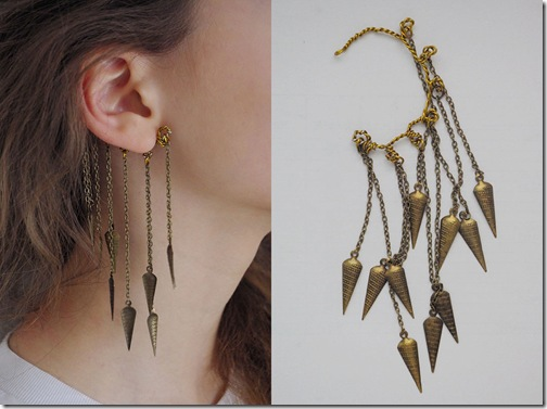 Reuse_spiky ear cuff