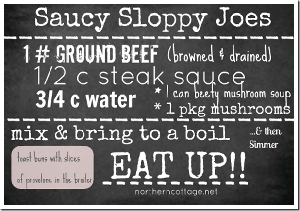 sloppy joe recipe northern cottage