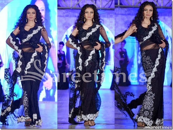 Rohit_Verma_Black_Saree