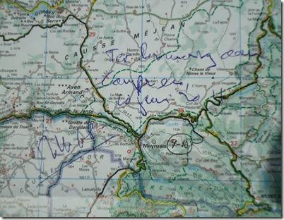Kaart handtekening Tim Krabbé