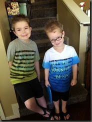 2014-08-16 - Colby and Ben in shirts from Grammy and Grampa_resize