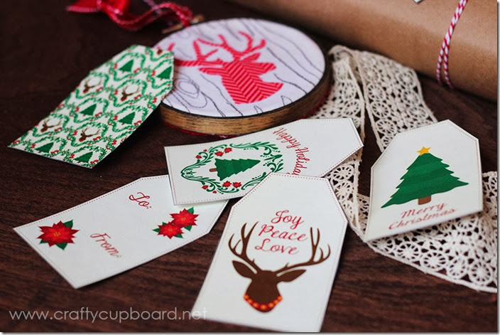 Rustic Deer Printable Gift Tags by The Crafty Cupboard