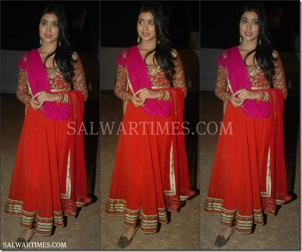 Shriya_Red_Designer_Saree