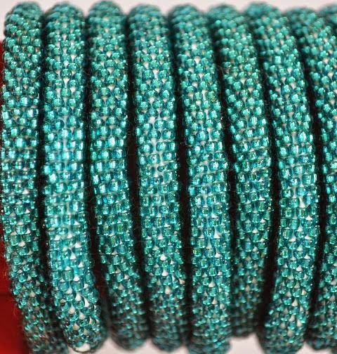 Rollover Green Bead Bracelets