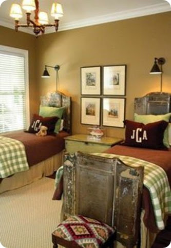 buffalo check bedroom green