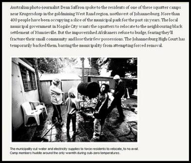 Afrikaner Poor AustralianPhotog Dean Saffron Report