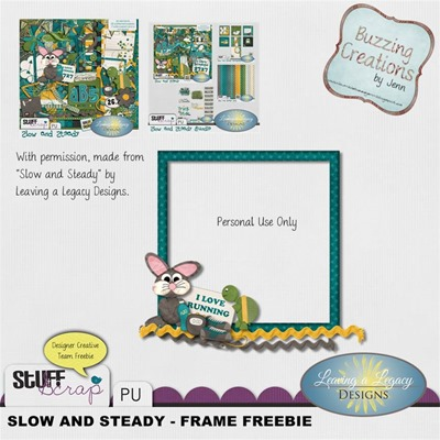 Leaving a Legacy Designs - Slow and Steady - Frame Freebie Preview
